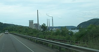 Cardinal Power Plant - Cardinal Power Plant viewed from Ohio State Route 7
