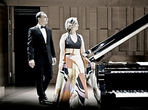 Carles & Sofia Piano Duo - Image: Carles&Sofia. After the concert