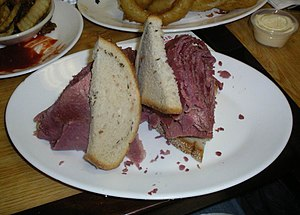Corned beef - Corned beef sandwich, Carnegie Deli, New York City