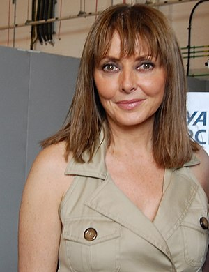 English: Carol Vorderman posing after her char...