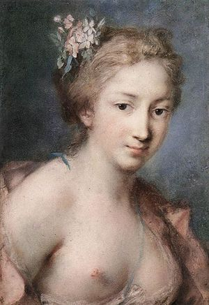 1730 in art - Image: Carriera, Rosalba Flora 1730