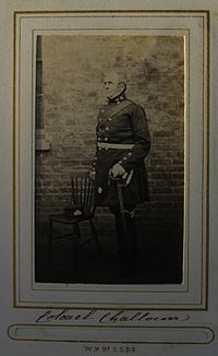 Carte De Visite Of Bisse Challoner As Colonel The Surrey Militia