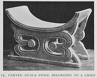 Duala people - Image: Carved Duala stool belonging to a chief