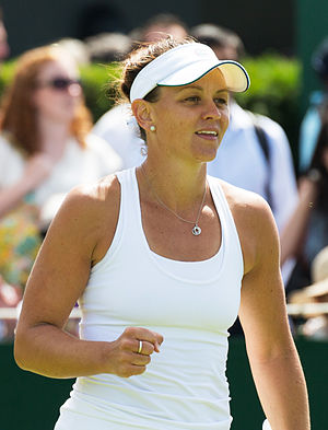Casey Dellacqua - Dellacqua at the 2015 Wimbledon Championships
