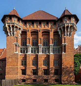 Malbork Castle - Brick Gothic details of the castle