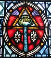 Cathedral Church of Saint Patrick (Charlotte, North Carolina) - stained glass, baptism.JPG