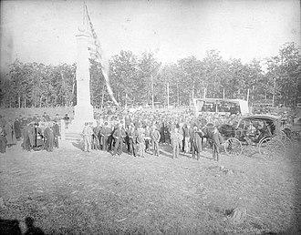 David McMurtrie Gregg - Image: Cavalry Shaft, Gettysburg, Ceremonies Oct. 15. '84. (cropped)