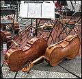 Cellos and Violins in Brisbane Queen St Mall-1 (27766252515).jpg