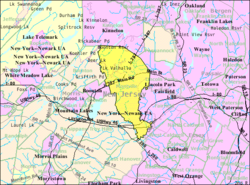 Census Bureau map of Montville, New Jersey
