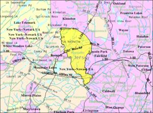 Montville, New Jersey - Image: Census Bureau map of Montville, New Jersey