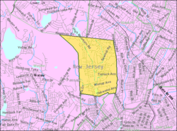 Census Bureau map of North Haledon, New Jersey
