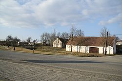 Center of Slavíkovice, Třebíč District.JPG