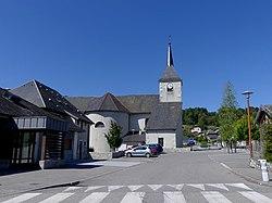 Centre et église de Saint-Germain-la-Chambotte (août 2020).JPG