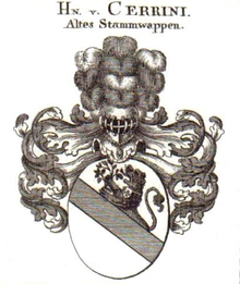 Stammwappen der Cerrini (Quelle: Wikimedia)