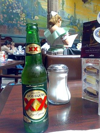 Cuauhtémoc Moctezuma Brewery - Image: Cerveca xxlager
