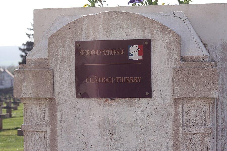 "Entrance to 'nécropole nationale' (national restplace) ""Chesnaux"", Château-Thierry, Aisne."