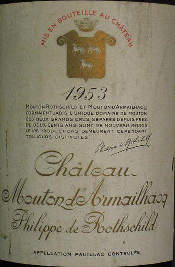 Château Mouton d'Armailhacq Philippe de Rothsc...