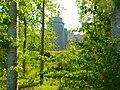 Château de la Hunaudaye (Plédéliac) vu depuis les sentiers de randonnée de Pléven.jpg