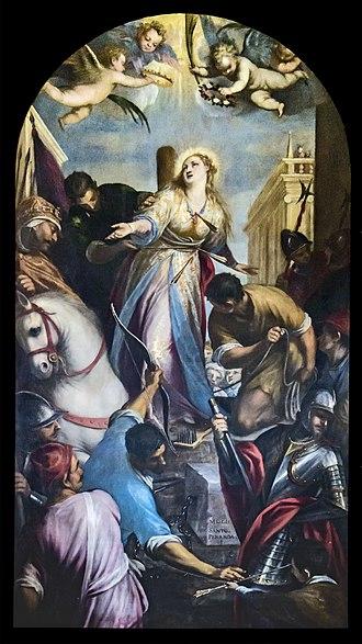 Christina of Bolsena - Martyrdom of St Christina San Zanipolo Venice, Italy.