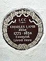 Charles Lamb Elia (1775-1834) essayist lived here.jpg