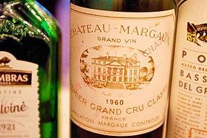 Château Margaux - Bottle label of Château Margaux 1960