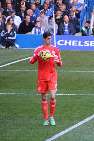 Thibaut Courtois -  Courtois playing for Chelsea in 2014