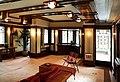 Chicago, robie house di frank lloyd wright, 1908-1910, salone al primo piano, 01.jpg
