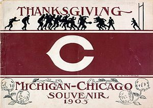 Chicago–Michigan football rivalry - Image: Chicago Michigan football program (1905)