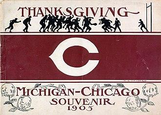 Chicago–Michigan football rivalry - Image: Chicago Michigan football program (1905)