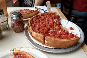 Pizza - Chicago-style pizza — deep dish