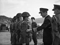 Chief of Combined Operations on Visit of Inspection. 6 March 1943, at HMS Armadilla and HMS Pascoe, Lord Louis Mountbatten Chief of Combined Operations Inspect Units of His Command. A15105.jpg