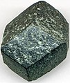 Chlorite after garnet (Precambrian; Michigamme Mine, Michigamme, Michigan, USA).jpg