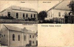 Chornotysiv (Feketeardo),postcard with synagogue.jpg