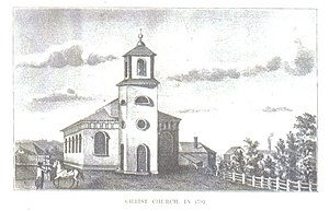 1761 in architecture - Christ Church (Cambridge, Massachusetts) when new