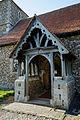 Church of John the Baptist porch Langley Essex England.jpg
