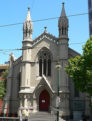 Charles Webb (architect) - Image: Church of christ swanston street