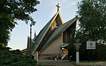 Church of the Stigmata of St. Francis of Assisi (1975 design. by Antoni Mazur), 1 Ojcowska street, Krakow, Poland.jpg