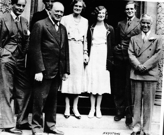 Churchill Charlie Chaplin Mitford
