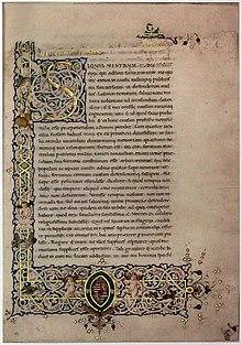 Der Anfang von Ciceros Divinatio in Caecilium in der 1460/1470 geschriebenen Handschrift Budapest, Egyetemi Könyvtár, Cod. Lat. 2 (Quelle: Wikimedia)