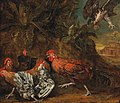 Circle of Melchior de Hondecoeter - Fowl attacked by a bird of prey.jpg