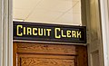 Circuit Clerk Sign at Attala County Courthouse Mississippi (27833620981).jpg