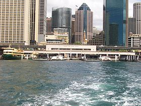 Circular quay ferry wharves from water.jpg
