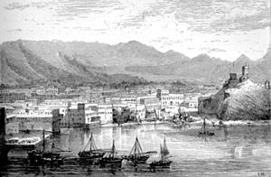 Old Muscat - Historic view of Old Muscat in 1876