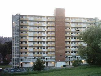 The Beiderbecke Affair - Clayton Grange Flats, Moor Grange, Leeds used as 'The Multistorey Block of Flats' in the Beiderbecke affair, taken in June 2008, 24 years after filming