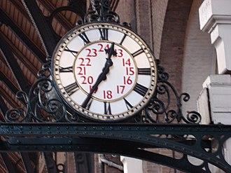 Station clock - Image: Clock in Kings Cross