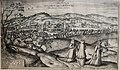 Cluj by Joris Hoefnagel, 1617 (black and white version).jpg