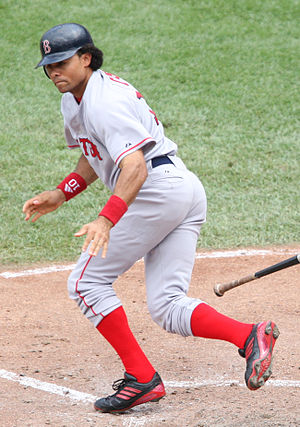 Coco Crisp - Crisp playing for the Boston Red Sox in 2007.