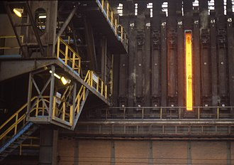 Coke (fuel) - Coke oven at smokeless fuel plant, Abercwmboi, South Wales, 1976