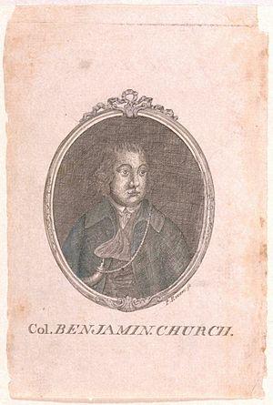 Charles Churchill (satirist) - Image: Col Benjamin Church by Paul Revere