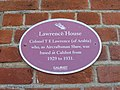 Colonel T. E. Lawrence Plaque - geograph.org.uk - 1740469.jpg